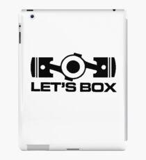 Lets Box - Subaru Boxer engine (White) iPad Case/Skin