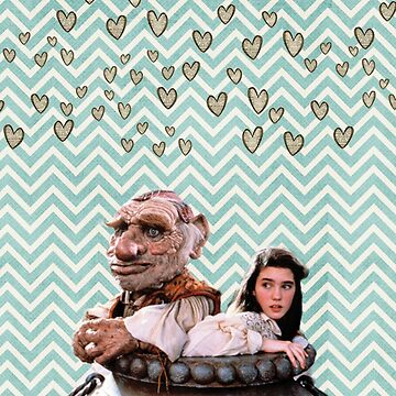 Labyrinth - Sarah and Hoggle Hearts by darrenbowie