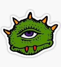 Halloween Gift - Friendly Cyclops - Area 51 Alien Sticker