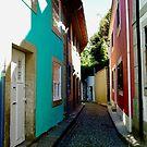 A Street Old Town Foz, Porto, Portugal by Douglas E.  Welch