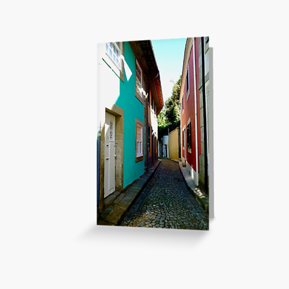 A Street Old Town Foz, Porto, Portugal Greeting Card