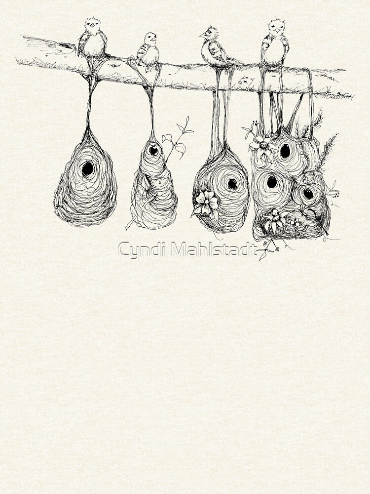 Oriole Nests - No place like home (white) by MeadowBug
