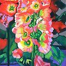Hollyhocks by Lori Elaine Campbell