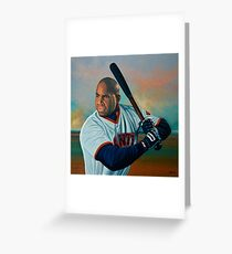 Barry Bonds painting Greeting Card