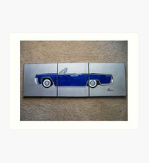 1965 Lincoln Continental Split Art Print