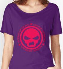 Sookie Designs Sneer Skull Logo Pink Women's Relaxed Fit T-Shirt