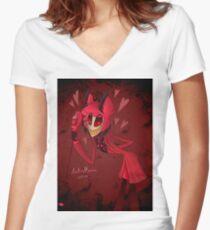 Love of Alastor-Poster Design Fitted V-Neck T-Shirt