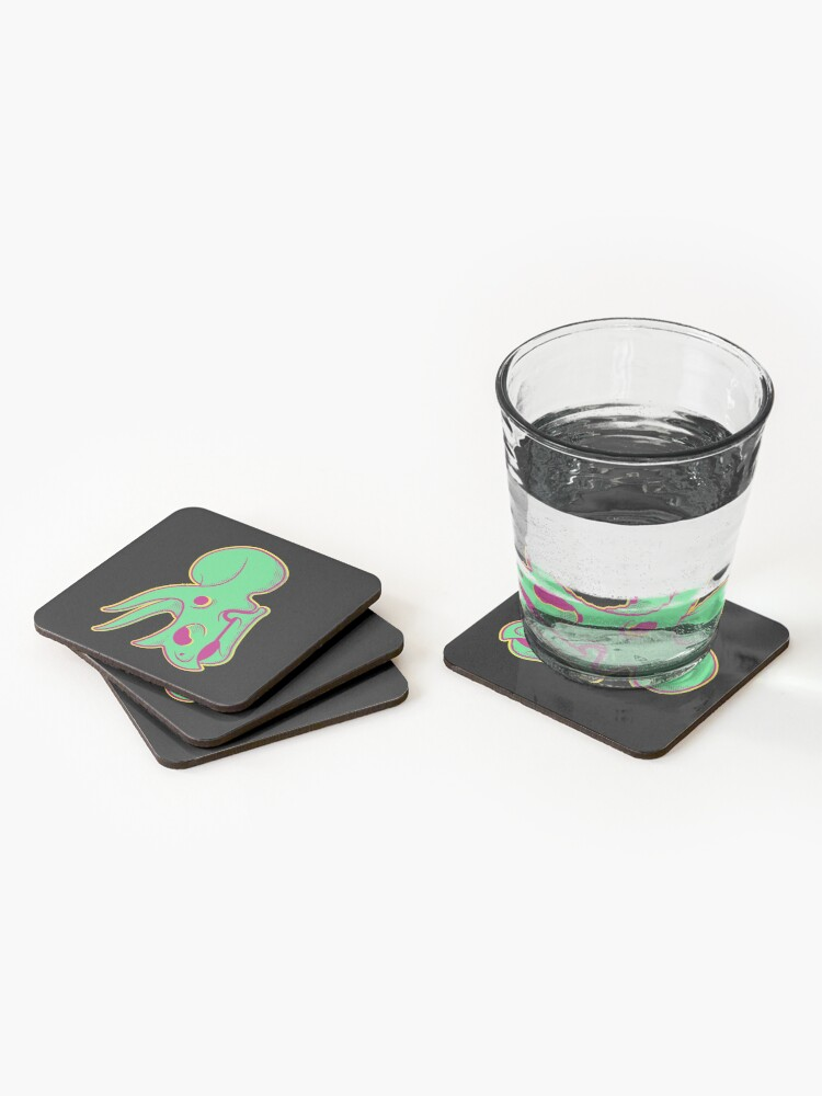 Alternate view of Triceratops in Green Coasters (Set of 4)
