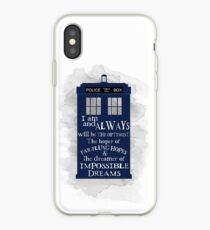 Dr Who - The Optimist quote  iPhone Case