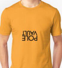 Stabhochsprung auf den Kopf gestellt Unisex T-Shirt