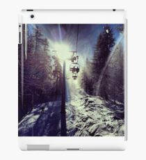 Chairlift to heaven iPad Case/Skin