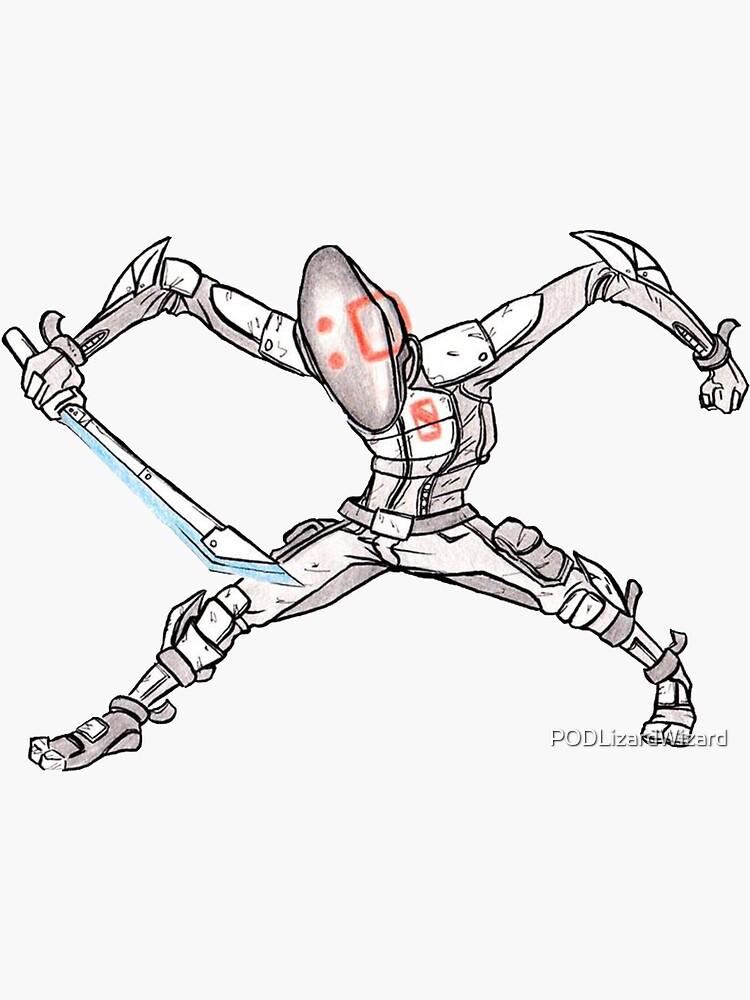 Zero Assassin Sketch by PODLizardWizard