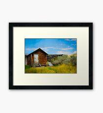 Aged Cabin Framed Print