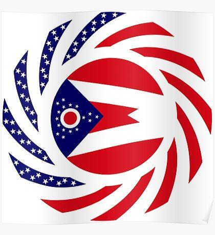 Ohio Murican Patriot Flag Series Poster