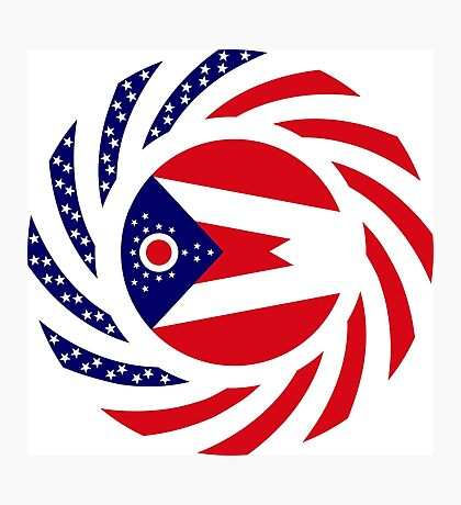 Ohio Murican Patriot Flag Series Photographic Print