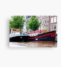 Amsterdam Houseboats Canvas Print