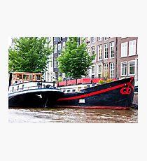 Amsterdam Houseboats Photographic Print