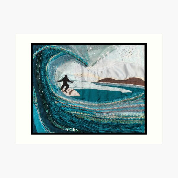 The Turquoise Surfer Art Print