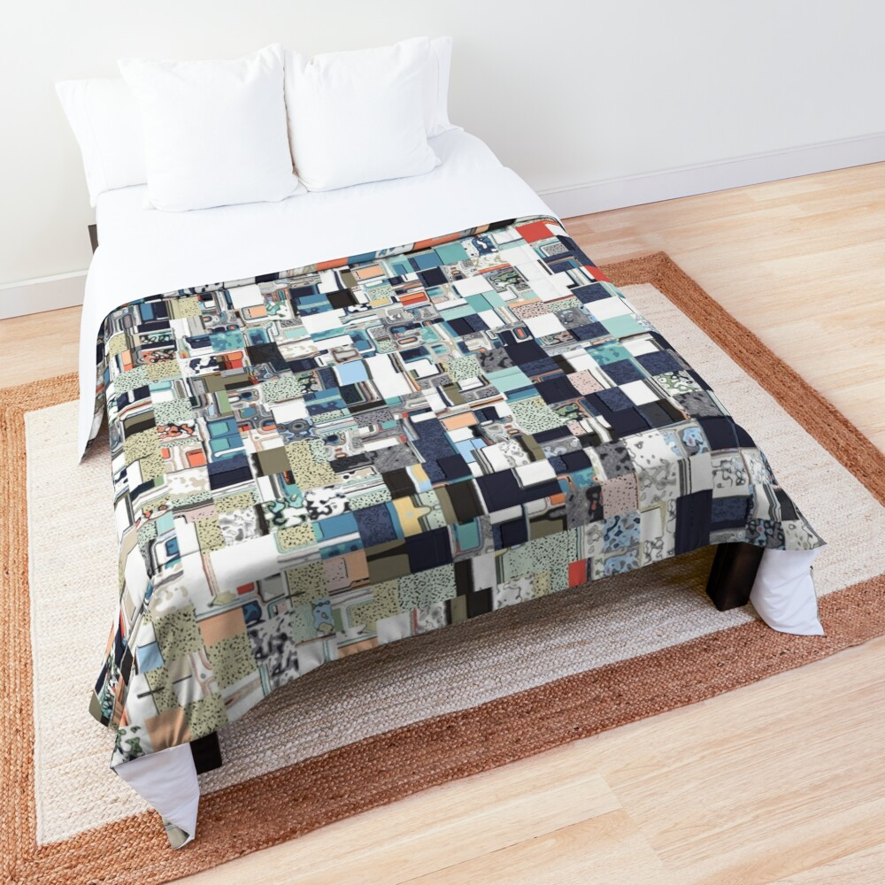 Colorful Chaotic Pattern Comforter
