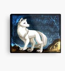 weißer Wolf Metallbild