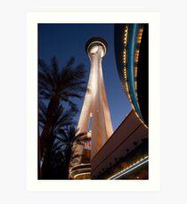 Stratosphere in Las Vegas Art Print