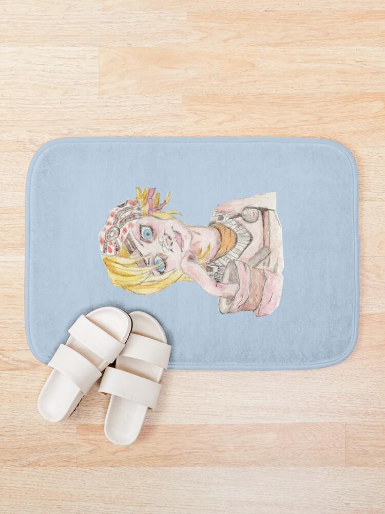 Alternate view of Tiny Tina Borderlands Fan Art Bath Mat