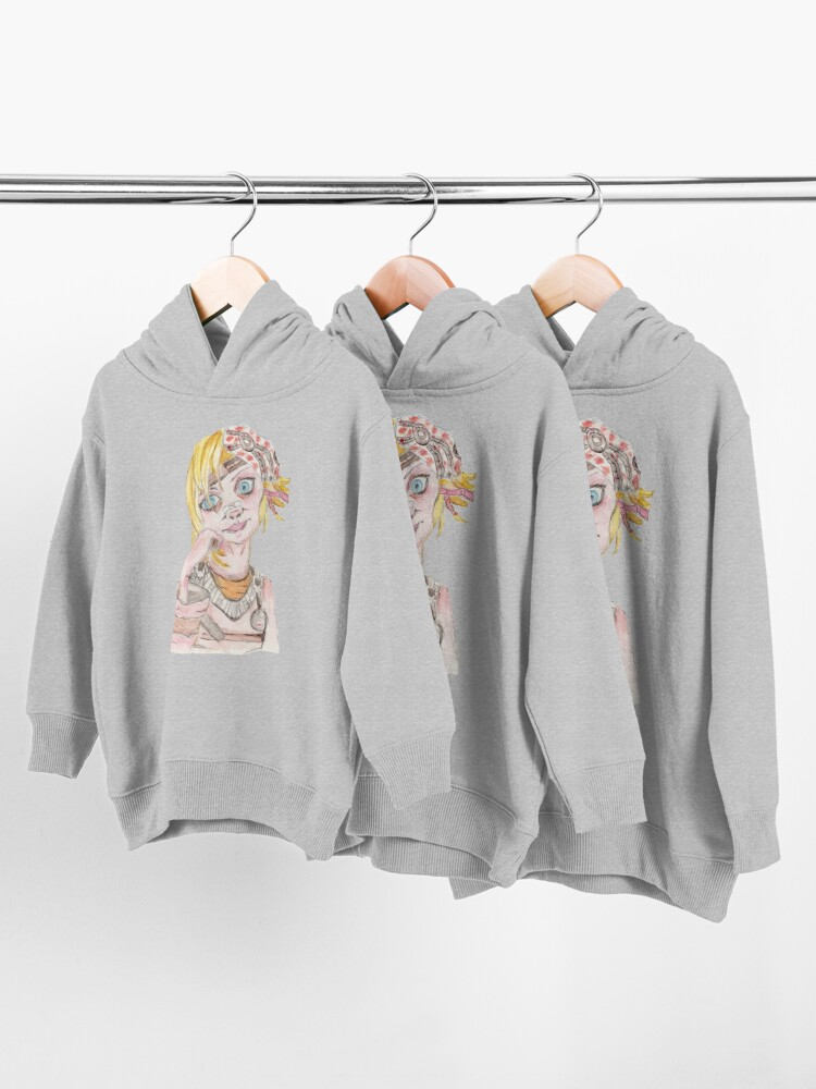 Alternate view of Tiny Tina Borderlands Fan Art Toddler Pullover Hoodie