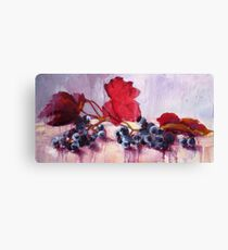 Blue Grape Canvas Print