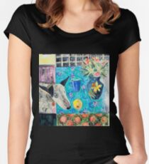 Frida and fruit 3 Women's Fitted Scoop T-Shirt