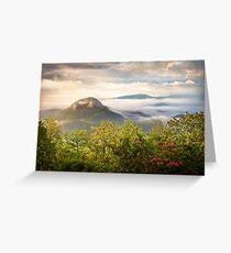 Looking Glass Rock at Sunrise w/ Fog - Blue Ridge Parkway Greeting Card