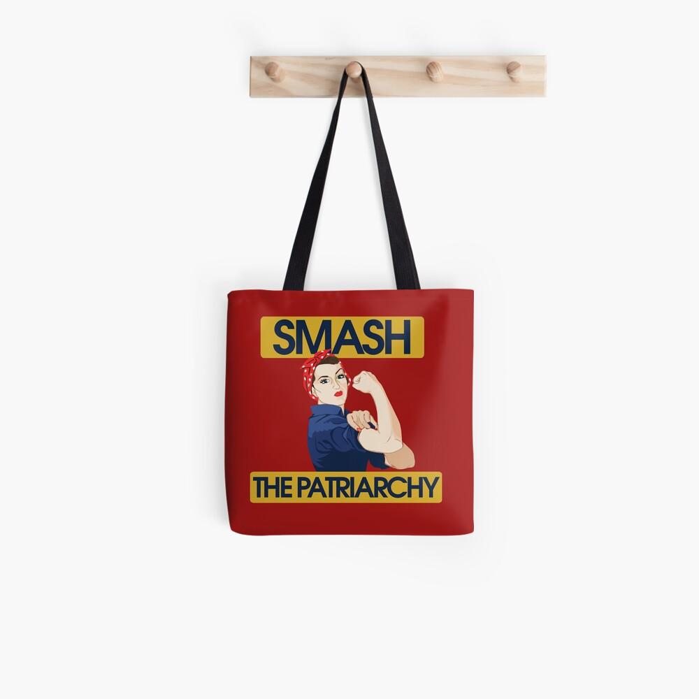 SMASH the patriarchy rosie riveter Tote Bag