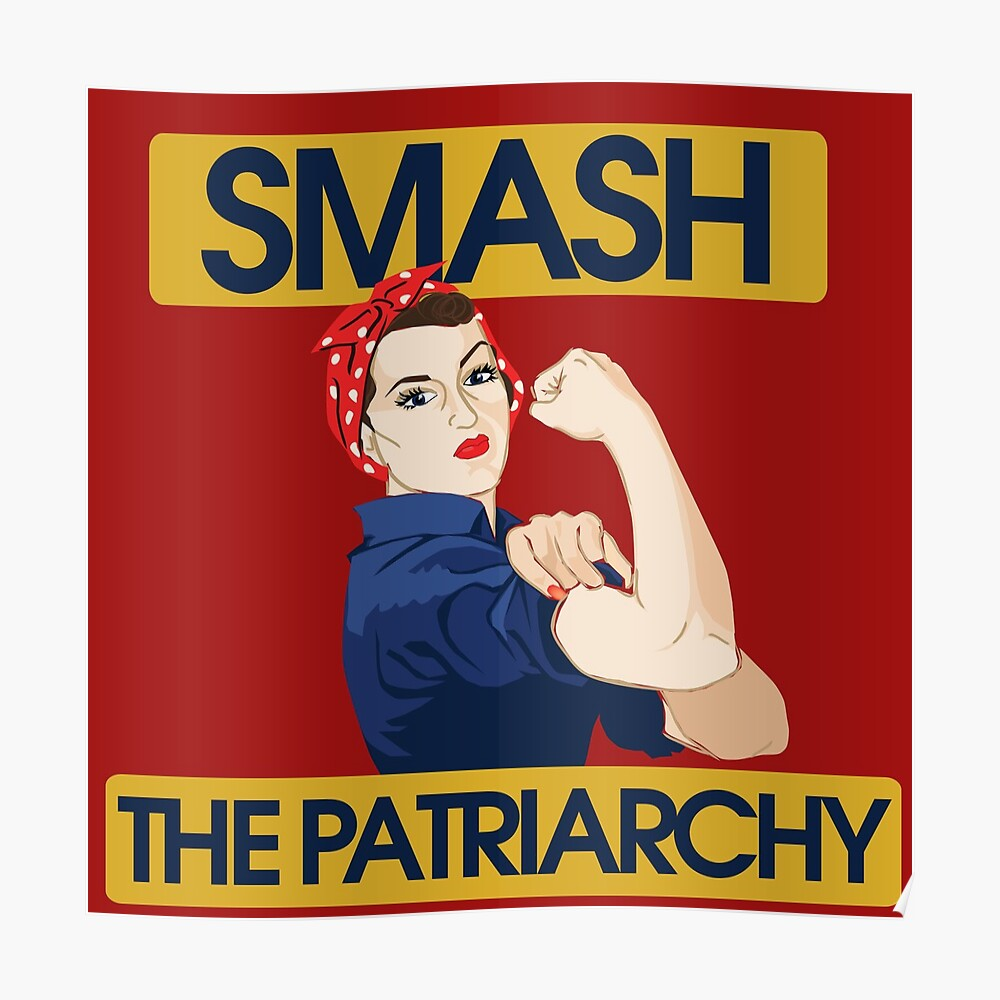 SMASH the patriarchy rosie riveter Poster