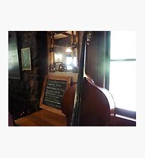 Bass Fiddle - Pig & Whistle Restaurant - Olinda Vic. Photographic Print