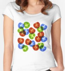 RGB Tomato salad Fitted Scoop T-Shirt