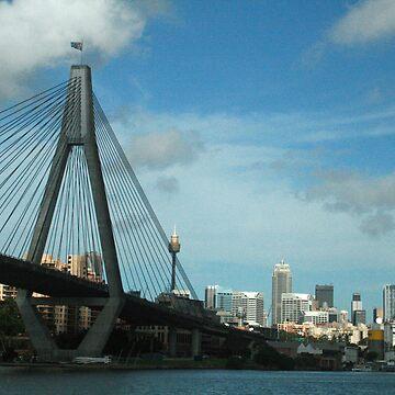 Sydney Skyline from the west by Kezzarama