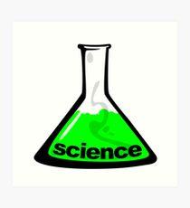 Science Beaker Green Art Print
