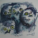 Baby Owls by Marcie Wolf-Hubbard