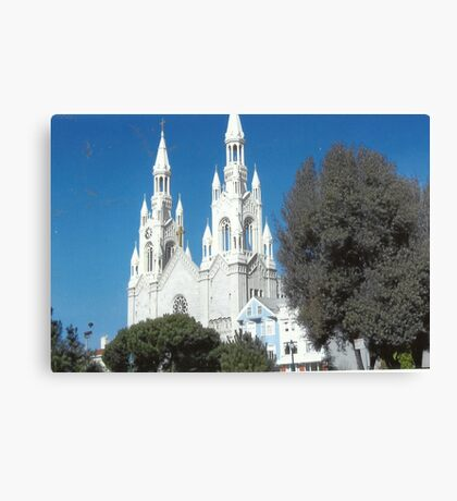 Church In North Beach,S.F. Canvas Print