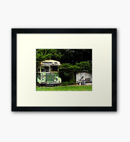 Bus Stop to Nowhere Framed Print