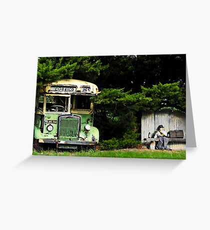 Bus Stop to Nowhere Greeting Card