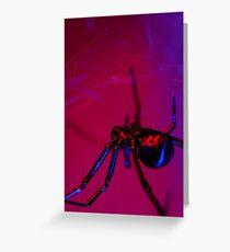 black widow on web Greeting Card