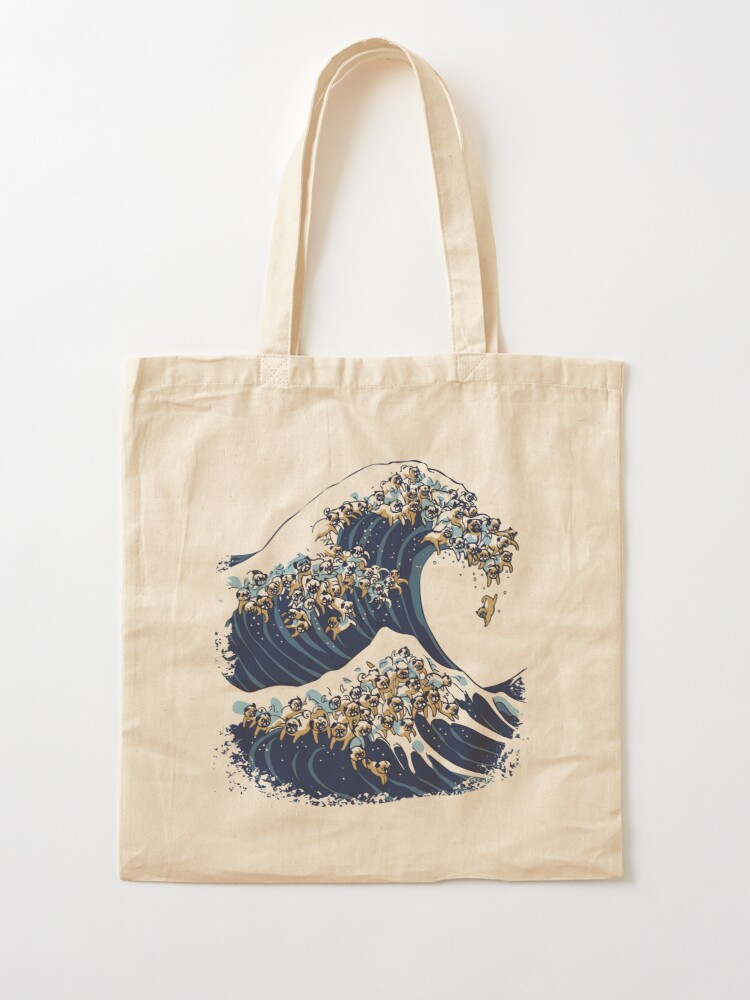 Alternate view of The Great Wave of Pug Tote Bag
