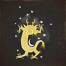 Vintage Cosmos: Golden Dragon by Sybille Sterk