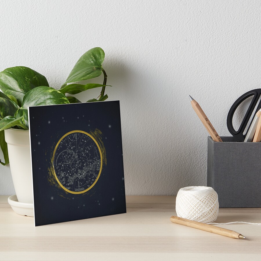 Vintage Cosmos: Star Map Art Board Print