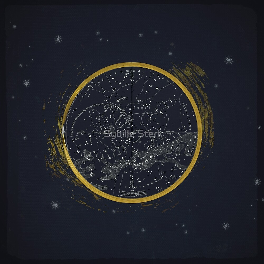 Vintage Cosmos: Star Map by Sybille Sterk