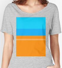 Orange & Blue Relaxed Fit T-Shirt