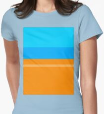 Orange & Blue Fitted T-Shirt