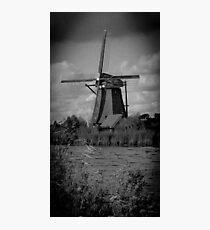 Windmill at Kinderdijk Photographic Print