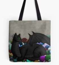 Cat Dragon with Yarn Hoard Tote Bag