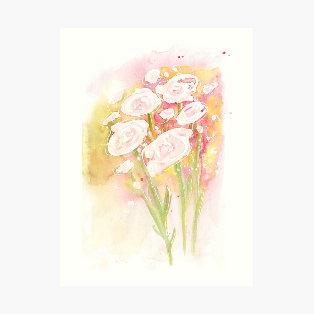 Flower bouquet  Art Print